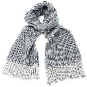 Michael Kors Silver Metallic End Muffler Scarf